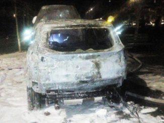 Сгорели три машины