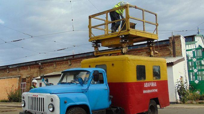 Николаев, Намыв, Лески, троллейбус, ремонт