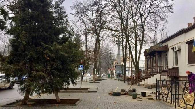 Николаев, Шевченко, ремонт, тротуар, плитка