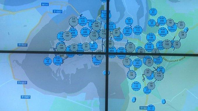 Николаев, коммунальные, сети, карта