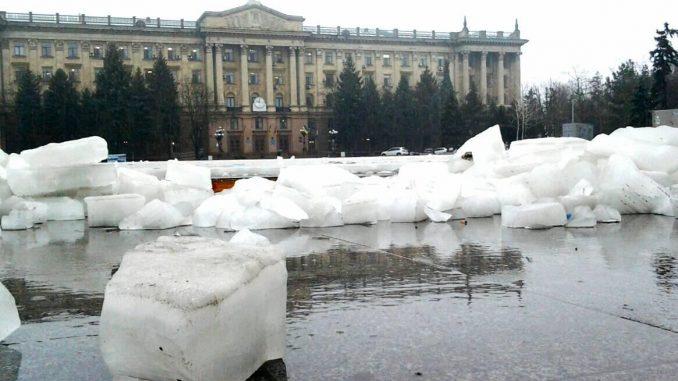 Каток, Соборная площадь, Николаев