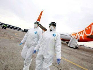 Самолет, Ухань, Китай, коронавирус