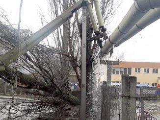 Ветер в Николаеве повредил теплосеть, циклон в Николаеве, погода в Николаеве