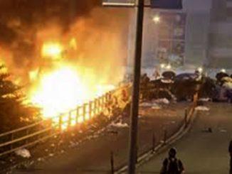 Пожар, протест. Фото из открытых источников