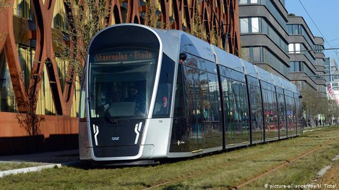 Бесплатный проезд, общественный транспорт, Люксембург, трамвай
