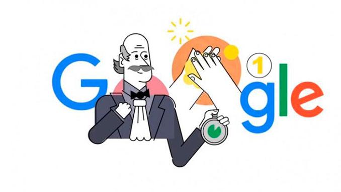 Игнац Земмельвейс, дудл, Google, doodle, здоровье, врач, гигиена