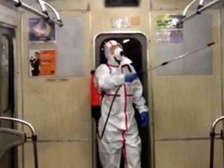 Киев, коронавирус, дезинфекция в метро, Киевский метрополитен
