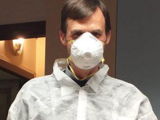 Врач, медик, коронавирус в Италии, профилактика коронавируса, медицинская маска