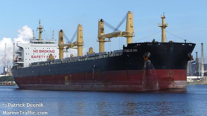 китайский балкер FENG DE HAI, корабль, карантин в Николаеве, коронавирус