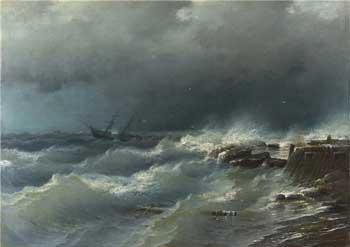 Картина «Шторм у берегов Одессы» продана за почти 614 тысяч долларов в 2017 году.