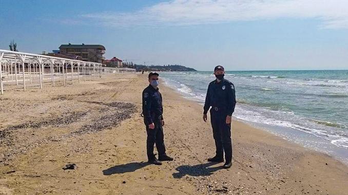 Коблево, 1 мая, карантин, маевка, Николаевская область, море, морские курорты, полиция, пляж