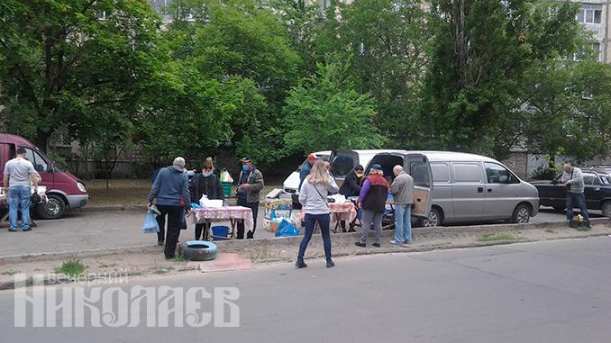 Ярмарка на Колодезной, рынки, несанкционированная торговля, карантин в Николаеве (с) Фото - Анна Рубанская, ВН