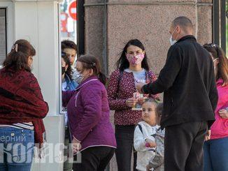 Карантин в Николаеве, очередь, маски, социальная дистанция