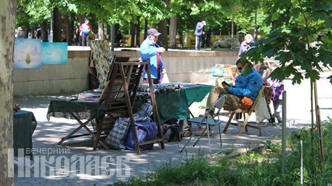 Улица Соборная, Николаев, Каштановый сквер