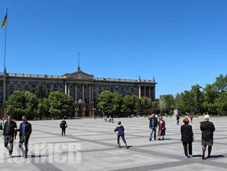 Соборная площадь, Николаев, Серая площадь, городской совет, мэрия, городской голова