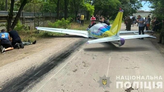 В Одессе упал самолет