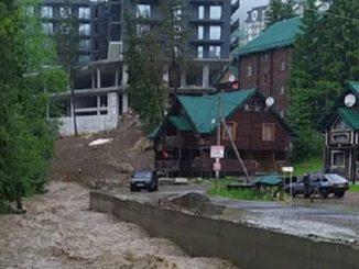 Буковель, дождь, паводок, стихия, курорт, Ивано-Франковская область, потоп, бедствие