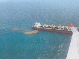 судно возле Одессы, Малеваный, Одесса, порт, экология, Государственная экологическая инспекция, новости, порт, CL TERESA, Гонконг, загрязнение, выброс, Черное море