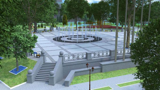 Фонтан в «Сердце города», новости, Сенкевич, Коренев, ЖКХ, департамент, фонтан, сквер, Сердце города, реконструкция, строительство, благоустройство