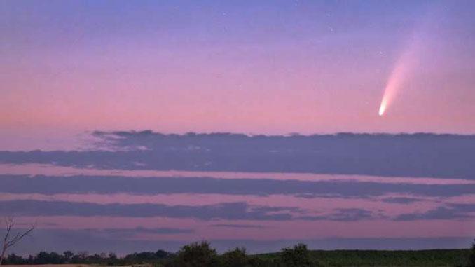 комета Neowise, новости, астрономия, Украина, небо, небесные тела, комета, наблюдения, фото,