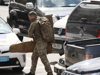 Киевский террорист, специперация, БЦ Леонардо (с) Фото - REUTERS