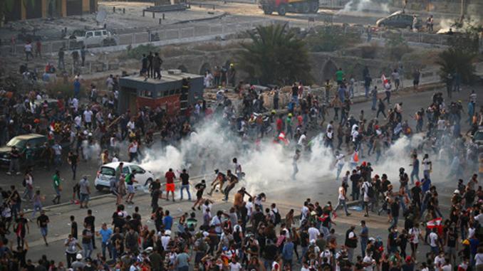 Протесты в Бейруте, Ливан, Бейрут, взрыв