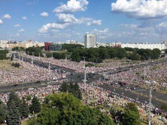 Марш свободы в Минске 16 августа, выборы в Беларуси, протесты, белорусский майдан, Лукашенко