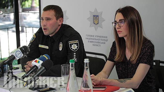 Сергей Шайхет, Национальная полиция в Николаевской области, пресс-конференция (с) Фото - Александр Сайковский, ВН