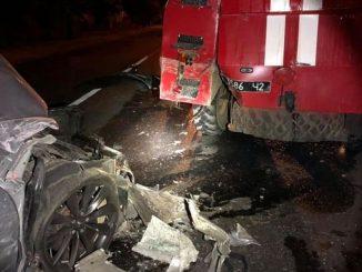 Tesla Model S, новости, происшествия, Николаев, ДТП, пожарная, авария, полиция
