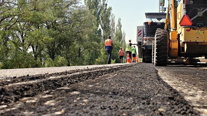 Дорога на Очаков, ремонт дороги, Служба автодорог Украины в Николаевской области