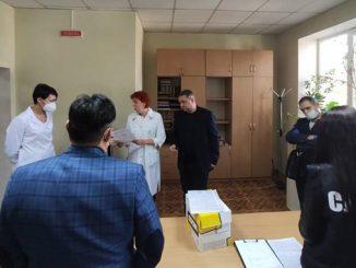 Обыск в инфекционной больнице Николаев