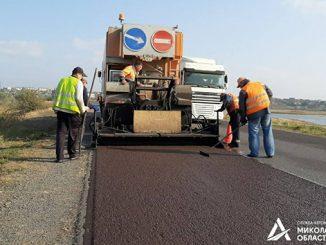 Коблево, дорога, ремонт дороги, Служба автодорог Украины