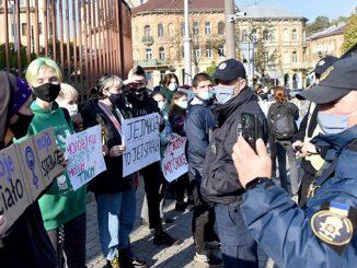 Запрет абортов в Польше, акция протеста