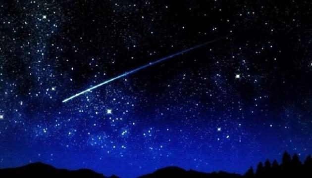 Звездопад, звезды, метеоры, Космос, небо, ночь
