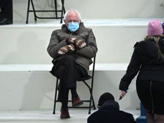 Берни Сандерс, варежки, инаугурация Байдена, США