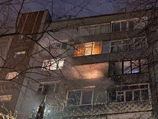 В новогоднюю ночь в Николаеве фейерверк залетел на балкон