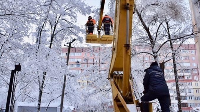 Снег в Николаевской области