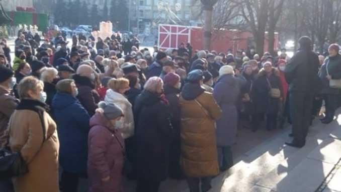 люди перекрывали мост, новости, митинг, протест, тарифы, Николаев, Украина,