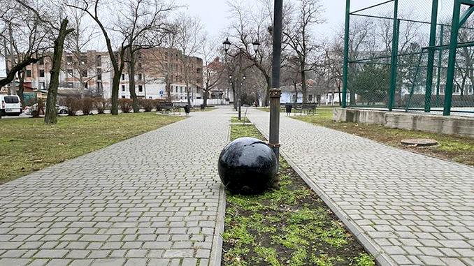 В Сердце города упал шар