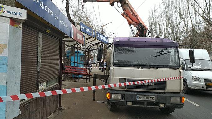 остановка на Садовой, демонтаж, МАФ