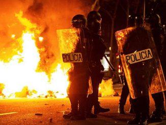 Барселона, протесты