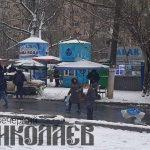 Снег, погода, ярмарка на Колодезной, карантин (с) Фото - А. Рубанская, Вечерний Николаев