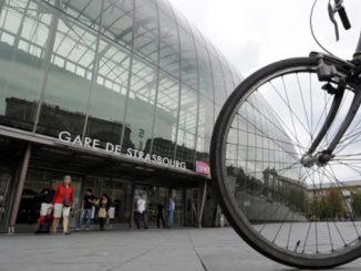 Страсбург, Франция, Европа, велосипед, велосипедисты, экология, транспорт