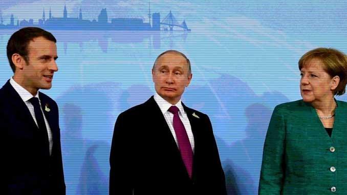 Макрон и Меркель, РФ, Путин, Украина, новости, РФ, война, конфликт, ОРДЛО, война, Крым, оккупация