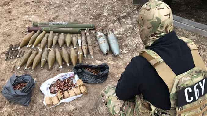 СБУ обнаружила схроны, новости, СБУ, схроны, боевики, НВФ, ОРДЛО, РФ, война, ООС,АТО, Украина, ВСУ, боеприпасы, новости
