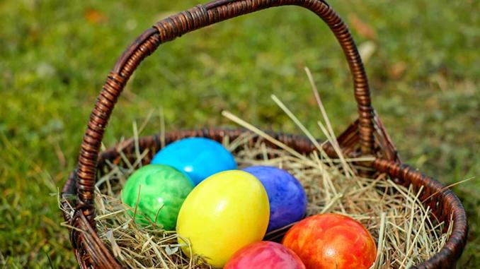 Пасха 2021, пасхальная корзина, крашенки, яйца