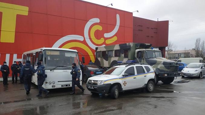 Нацгвардия заблокировала рынок Колос, карантин в Николаеве