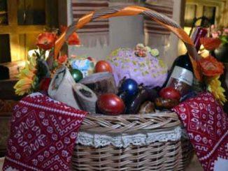 Пасхальная корзина, новости, Украина ,Пасха, корзина, продукты, цены, наборы, яйца, сало, колбаса, паска, кулич, мясо,