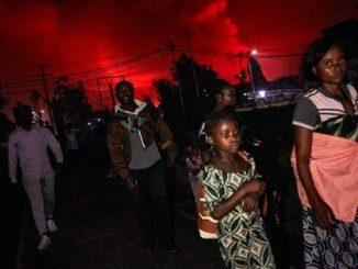 Вулкан в Конго Нийрагонго