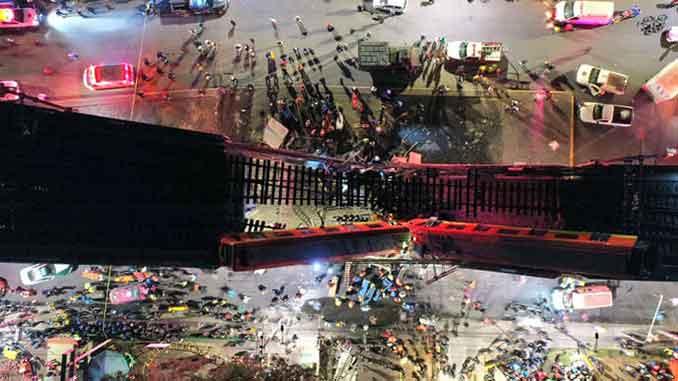 В Мехико метро, новости, авария, метро, мост, смерть, происшествия, Мехико,